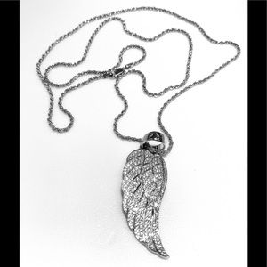 ANGLE WING Sterling silver 2 1/2inch with chain